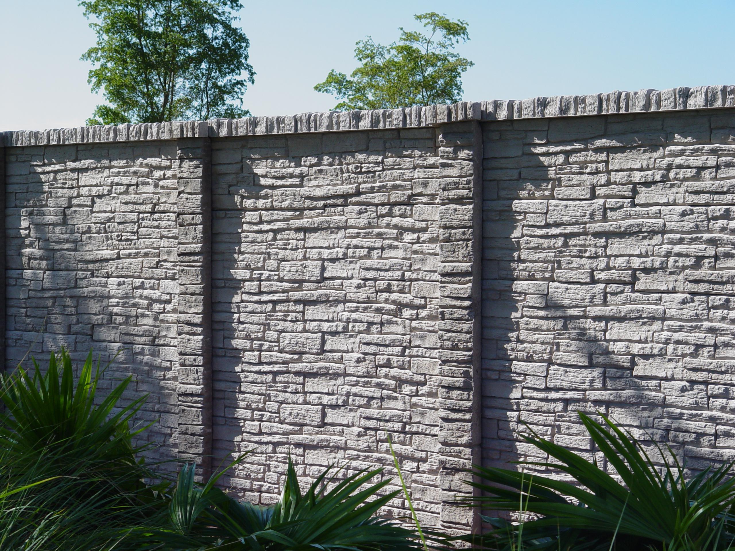 """Декоративный забор """"под камень"""""""