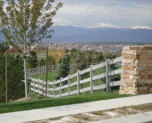 """Бетонный забор """"Ранчо"""""""