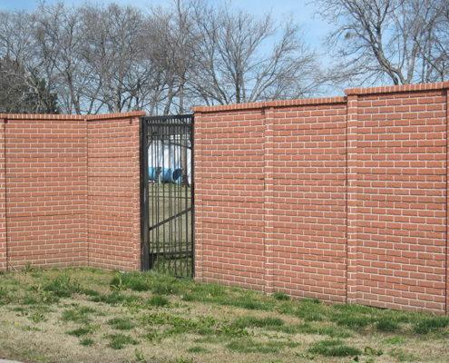 "Бетонный забор ""под кирпич"""