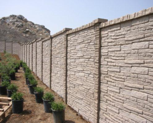 Бетонный забор «под камень»