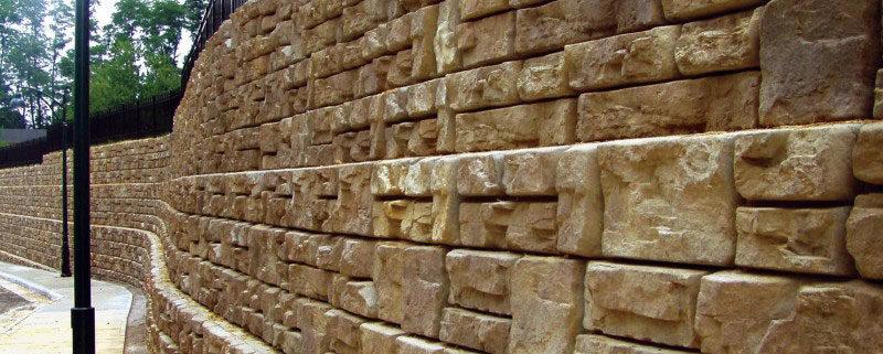 Гравитационные блоки подпорных стен